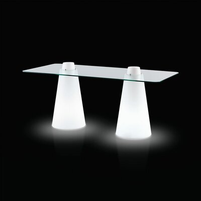 Peak Double Table Size: 31.5, Color: Signal White Lacquer