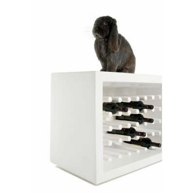 Bachus 35 Bottle Floor Wine Rack Finish: White