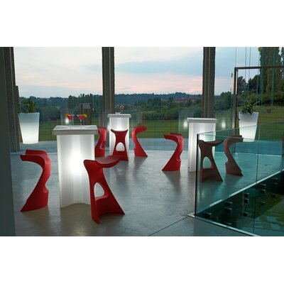 Koncord Bar Stool Color: Red