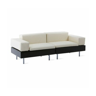 HappyLife Sofa Finish: Black