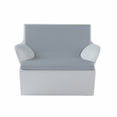 Kami Indoor/Outdoor Lounge Chair Cushion Color: Dark Grey