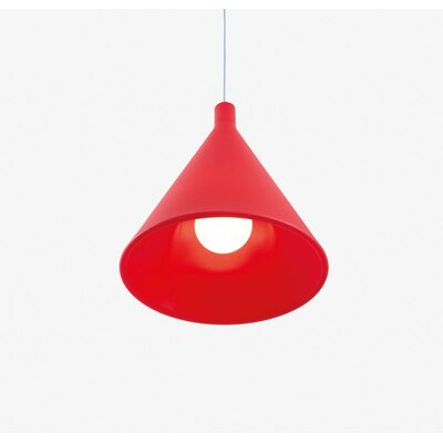 Juxt 1-Light Mini Pendant Finish: Flame Red Lacquer