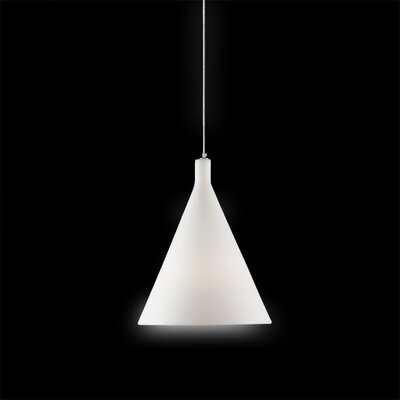 Juxt 1-Light Mini Pendant Finish: White with Light