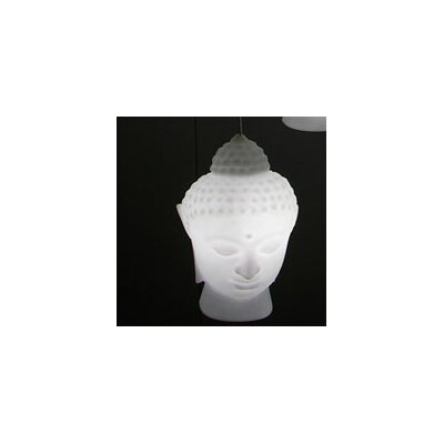Buddha 1-Light Cascade Pendant Finish: Orange with Light