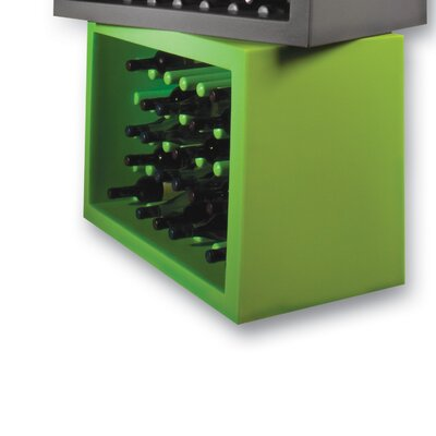 Bachus 35 Bottle Floor Wine Rack Finish: Yellow