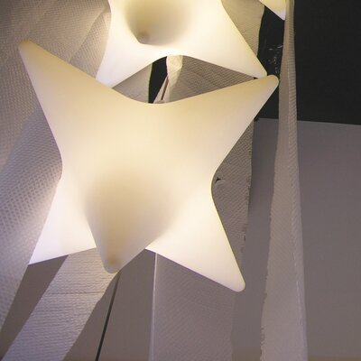 Sirio 1-Light Pendant Finish: White with Light, Bulb: Included