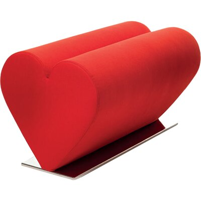 Love Loveseat Upholstery: Red