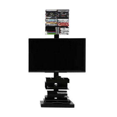 Ptolomeo 21 TV Stand Color: Black, Size: 44.88 x 21.26 x 16.54, Light: With