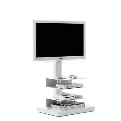 Ptolomeo 21 TV Stand Color: White, Size: 44.88 x 21.26 x 16.54, Light: With
