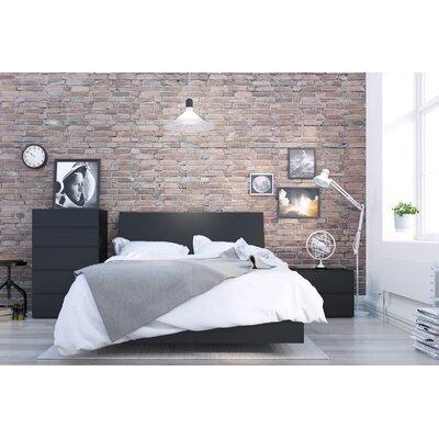 Mullet Platform Bed Size: Full, Color: Black