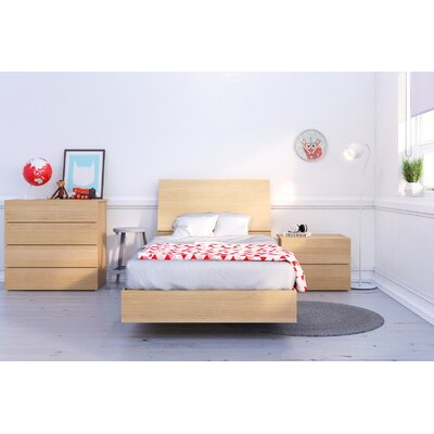Mullet Platform Bed Size: Twin, Color: Natural Maple