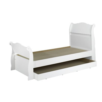 Cheap Dixie Twin Trundle Sleigh Bed in White (QB1677)