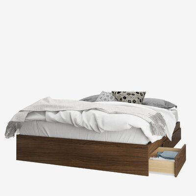 Yokota 3 Drawer Storage Platform Bed Color: Walnut, Size: Queen