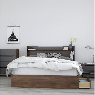Yokota Storage Platform Bed Size: Queen