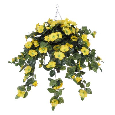 Artificial Petunia Hanging Plant in Beehive Basket HF0384-Y