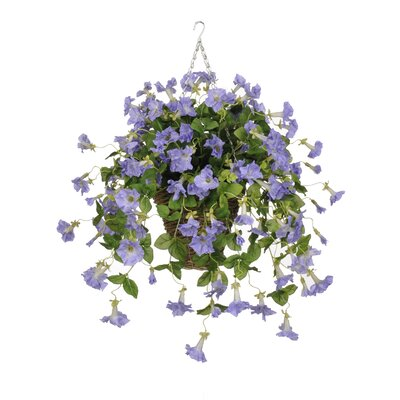 Artificial Petunia Hanging Plant in Square Basket HF0401-LV