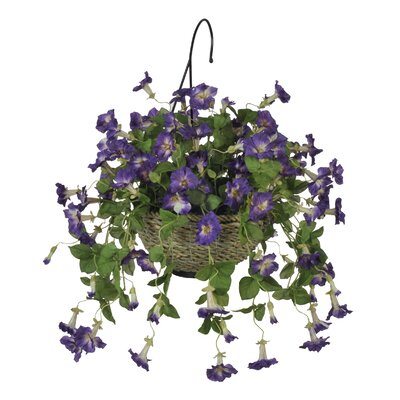 Artificial Petunia Hanging Plant in Basket HF0092
