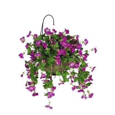 Artificial Petunia Hanging Plant in Basket HF0093