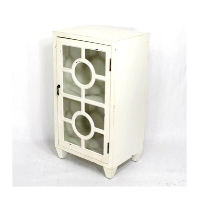Wooden Cabinet with 1 Door Finish: White