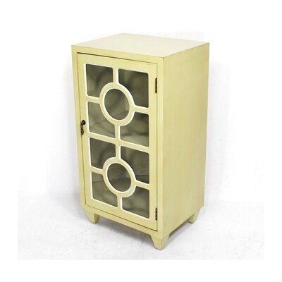 Wooden Cabinet with 1 Door Finish: Yellow