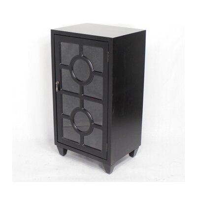 Wooden Cabinet with 1 Door Finish: Black