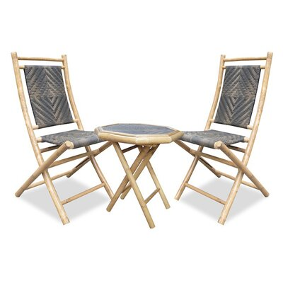 3 Piece Bistro Set Finish: Black