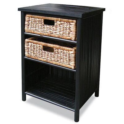 2 Drawer Cabinet Finish: Black
