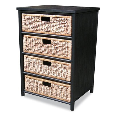 4 Drawer Cabinet Finish: Black