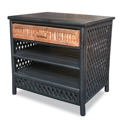 1 Drawer Cabinet Finish: Black