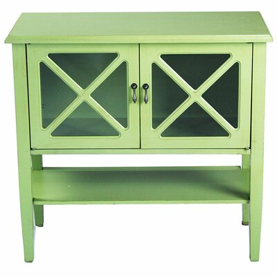 2 Door Console Cabinet Finish: Lite Green W191089-1326