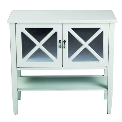 2 Door Console Cabinet Finish: Sea Foam Green