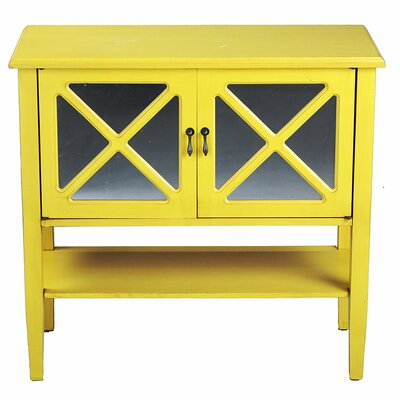 2 Door Console Cabinet Finish: Yellow