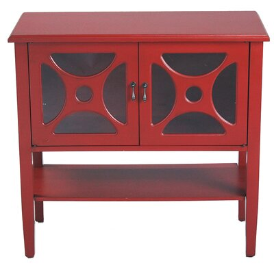 2 Door Console Cabinet Finish: Red