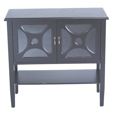 2 Door Console Cabinet Finish: Black