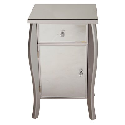 1 Drawer 1 Door Bombay Chest Finish: Silver