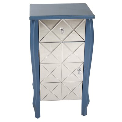 1 Drawer 1 Door Bombay Chest Finish: Blue