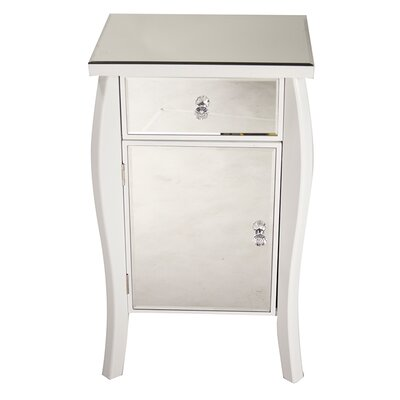 1 Drawer 1 Door Bombay Chest Finish: White