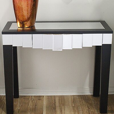 Catherine Mirrored Console Table Finish: Black