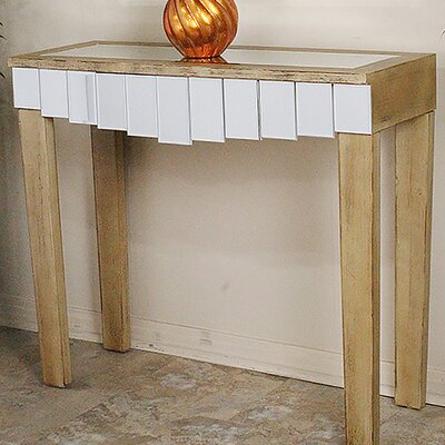 Catherine Mirrored Console Table Finish: Distressed Brown