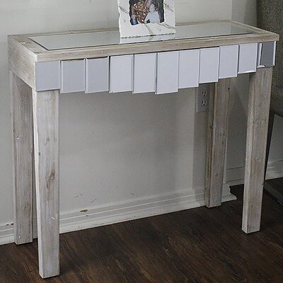 Catherine Mirrored Console Table Finish: White Wash