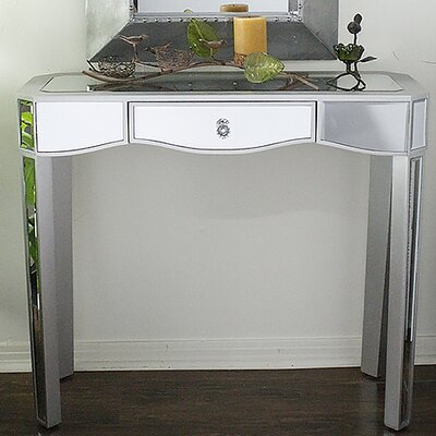 Elizabeth Mirrored Console Table Finish: Silver