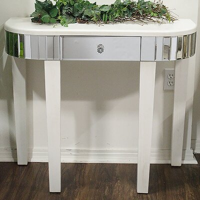Elenor Mirrored Console Table Finish: Antique White