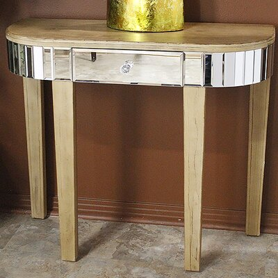 Elenor Mirrored Console Table Finish: Distressed Brown