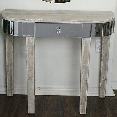 Elenor Mirrored Console Table Finish: White Wash