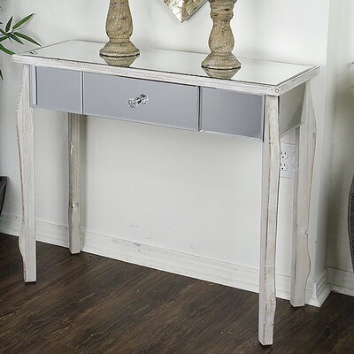 Amelia Console Table Finish: White Wash