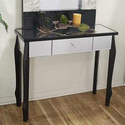 Amelia Console Table Finish: Black