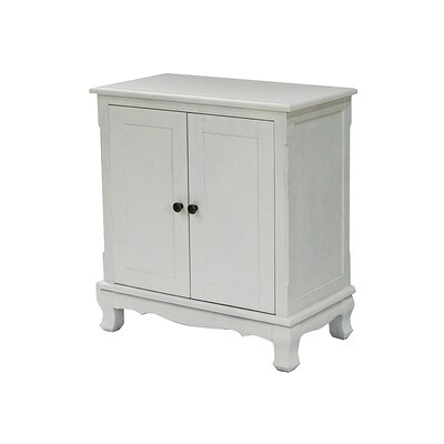 Pinecrest 2 door Accent Cabinet Finish: Ivory Wash