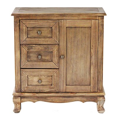 3 Drawer and 1 Door Accent Cabinet Finish: Farmhouse Rustic