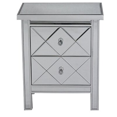2 Drawer Chest Finish: Silver