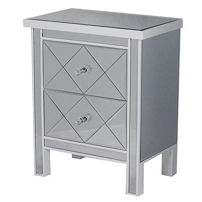 2 Drawer Chest Finish: White